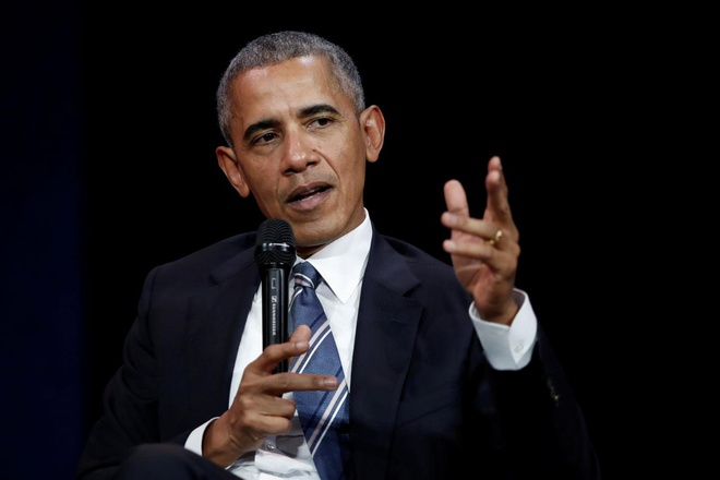 Tu Paris, cuu tong thong Obama ngam chi trich Trump hinh anh