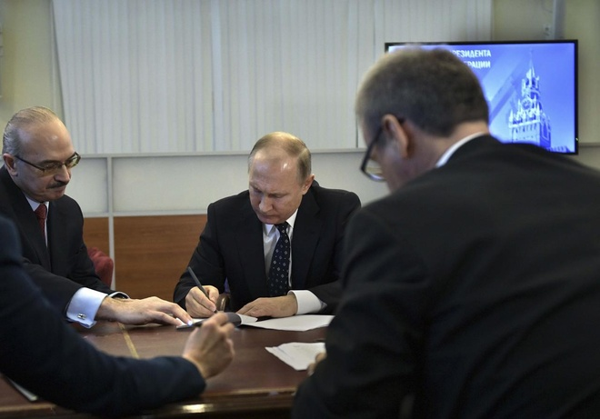 Ong Putin chinh thuc dang ky tranh cu tong thong nhiem ky 4 hinh anh
