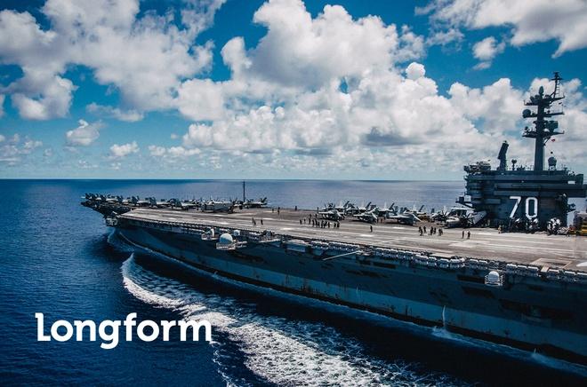 USS Carl Vinson toi Da Nang: Uy luc 'phao dai noi' tren bien hinh anh