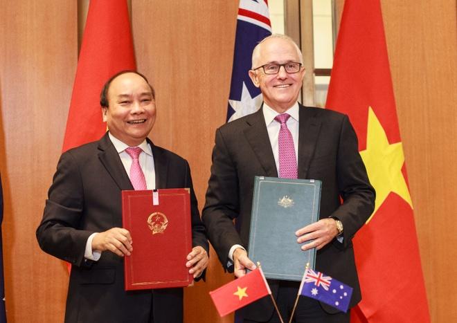 Thu tuong Viet Nam - Australia ky tuyen bo doi tac chien luoc lich su hinh anh