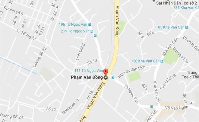 Va cham xe may tren dai lo Pham Van Dong, 1 nguoi tu vong hinh anh 2