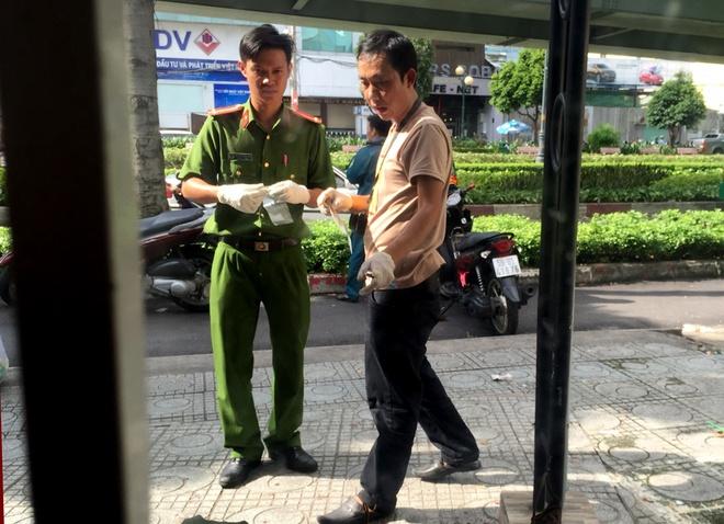 Cong an kham nghiem hien truong vu an mang tren via he Sai Gon hinh anh