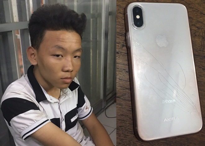 Canh sat ruot duoi nhu phim bat 2 nghi can cuop iPhone X hinh anh