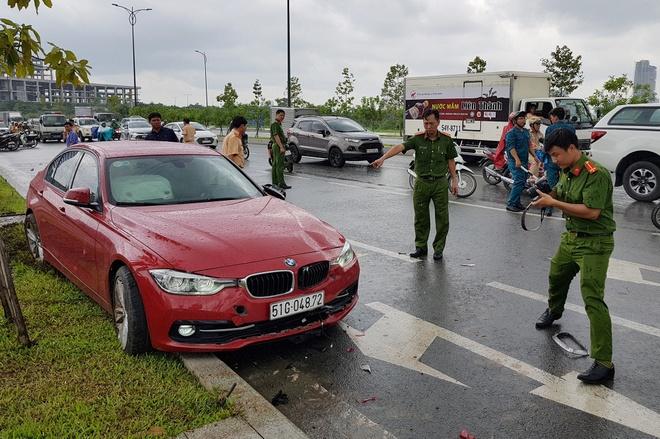 Oto BMW tong chet co gai o Sai Gon hinh anh