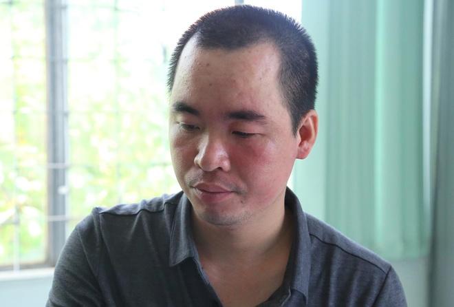 Đồng Văn Thắng tại cơ quan điều tra. Ảnh:Thanh Kiều.