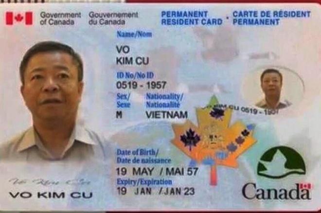 Ong Vo Kim Cu noi ve viec 'dinh cu', 'the xanh' o Canada hinh anh 2