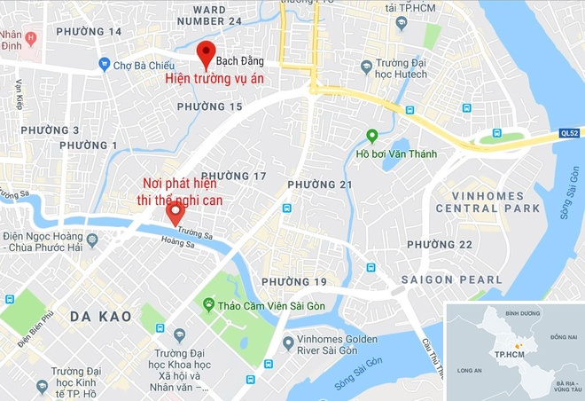 Nghi can sat hai nu sinh 19 tuoi tu vong duoi kenh Nhieu Loc hinh anh 4