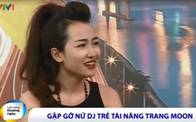 Clip DJ Trang Moon giao luu tren song VTV1 hinh anh