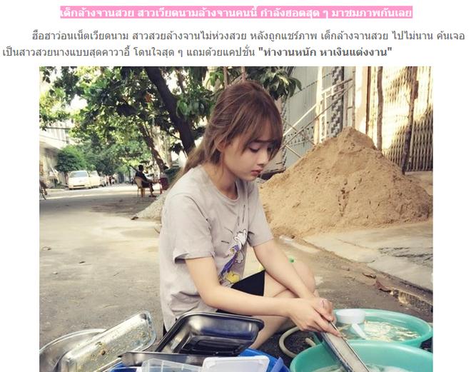 Anh co gai Viet rua bat duoc dan mang Thai Lan quan tam hinh anh 1