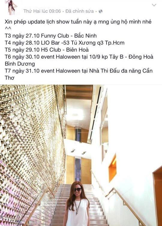 DJ Trang Moon huy show mot thang vi kiet suc hinh anh 2