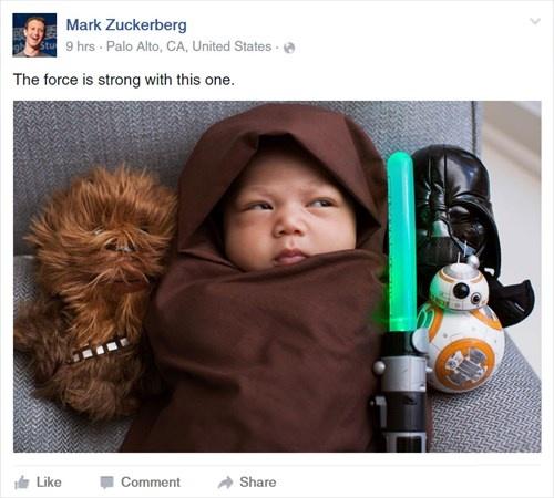 Ong chu Facebook dang anh con gai dien do 'Star Wars' hinh anh 1