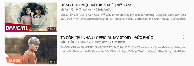 My Tam va Duc Phuc lan dau cham tran tren YouTube hinh anh 1
