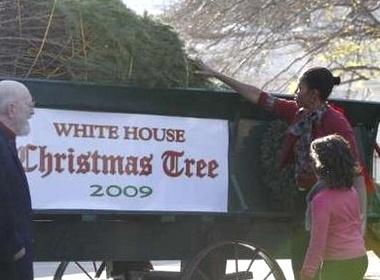 Nha Obama chuan bi mung Noel hinh anh