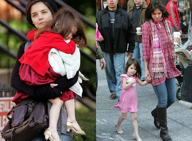 Katie Holmes: 'Suri thich me giay cao got' hinh anh