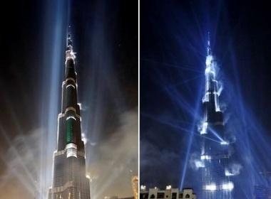 Ngam Burj Dubai ruc sang dem khai truong hinh anh