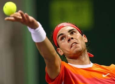 Rafael Nadal that thu trong tran chung ket Qatar Open hinh anh