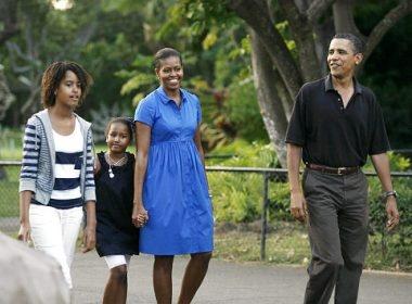 Nhung khoanh khac dang yeu cua nha Obama hinh anh