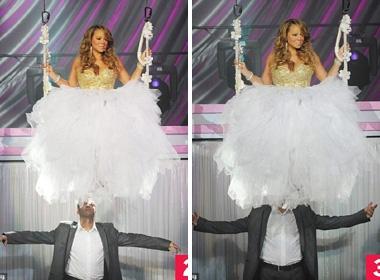 Mariah Carey mac vay phu kin mat vu cong nam hinh anh