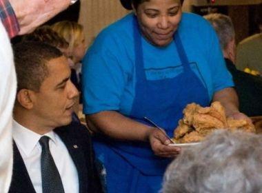 Obama 'len' vo di an ga ran hinh anh