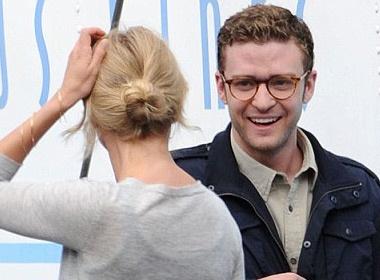 Justin Timberlake vui ve voi tinh cu hinh anh