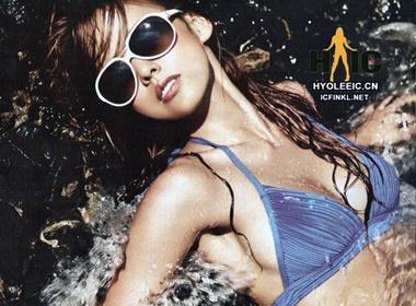 Lee Hyori mat me voi bikini hinh anh