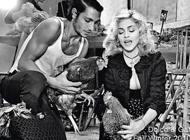 Madonna khoe nguon goc Italia hinh anh