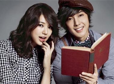 Yoon Eun Hye tuoi tan ben Kim Hyun Joong hinh anh