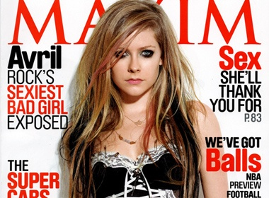 Avril Lavigne thich dan ong co dien hinh anh