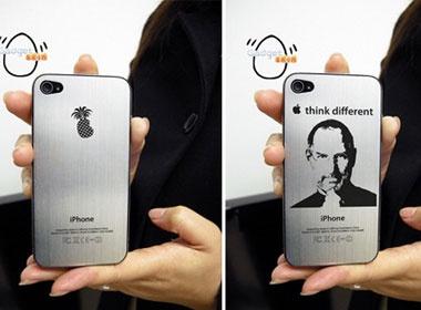 iPhone 4 voi logo 'qua dua can do' o mat sau hinh anh