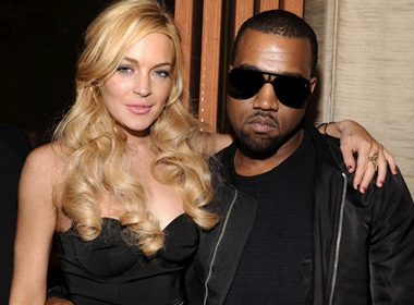Lindsay Lohan than thiet cung Kanye West hinh anh