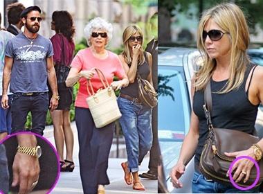 Jennifer Aniston deo nhan doi cung ban trai hinh anh