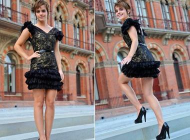 Emma Watson khoe chan dai o London hinh anh