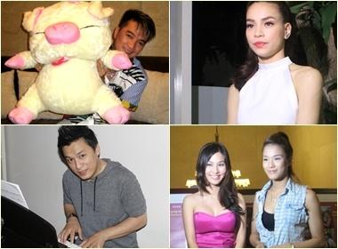 Lam Truong, Ha Ho, Mr Dam hat mung sinh nhat Zing hinh anh