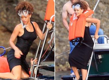 Rihanna dien dam dai di... lan hinh anh