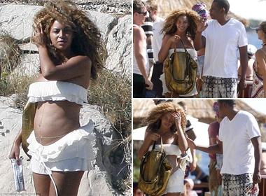 Beyonce khoe bung bau hinh anh