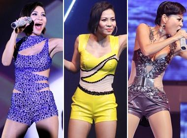 Bo suu tap jumpsuit shorts cua Thu Minh hinh anh