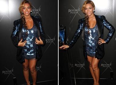 Beyonce dien vay ngan khoe bung bau hinh anh