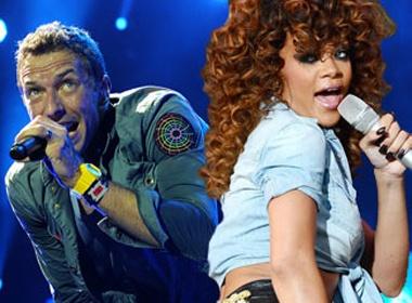 Rihanna - Chris Martin dao nhac Tran Tien? hinh anh