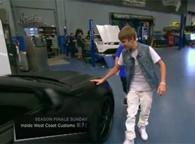 Video xe 'do' Cadillac CTS-V cua Justin Bieber hinh anh