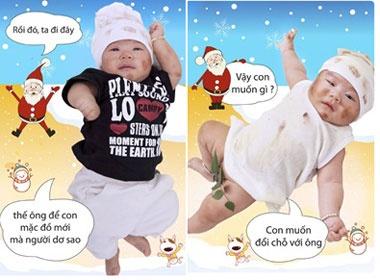 Con trai Ly Hai 'nhem nhuoc' don Noel hinh anh