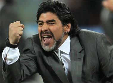 Maradona chinh thuc chia tay DT Argentina hinh anh