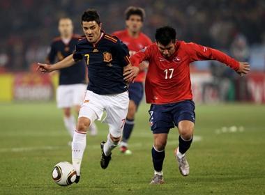 Tay Ban Nha - Chile : Cho David Villa ghi danh vao ky luc hinh anh
