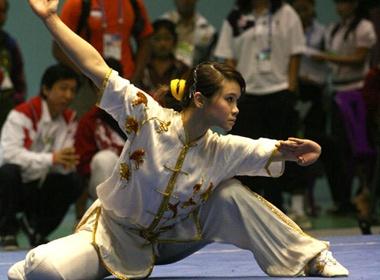 Wushu VN kho giu vi the so mot tai SEA Games 26 hinh anh