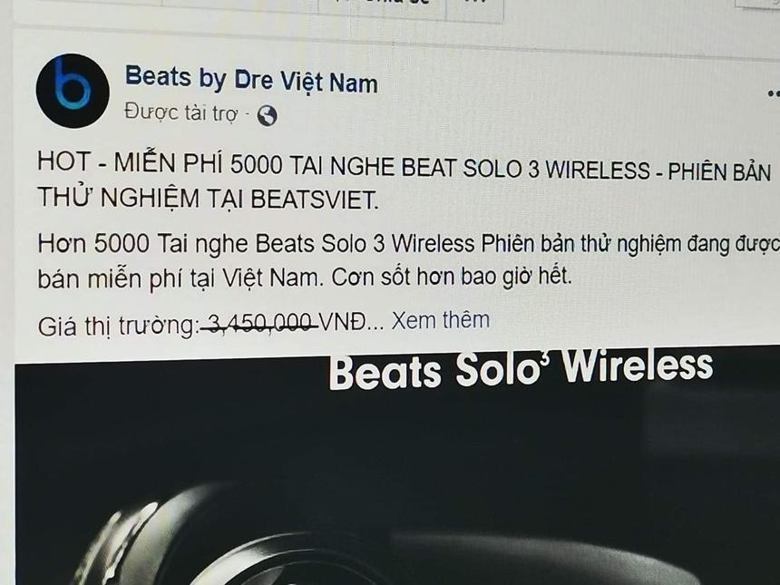 Lua tang tai nghe Beats tren Facebook kiem 100 trieu/ngay o VN hinh anh 4