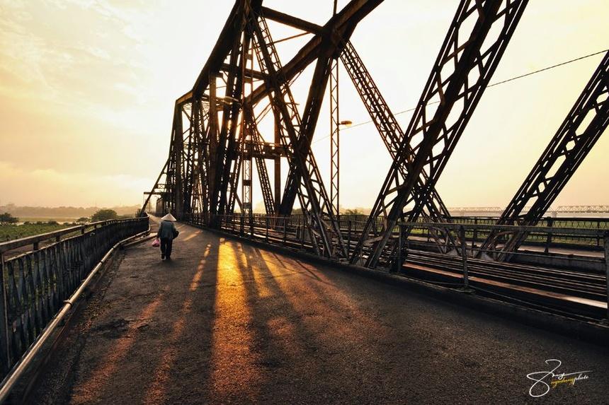 Image result for cầu long biên vào đông