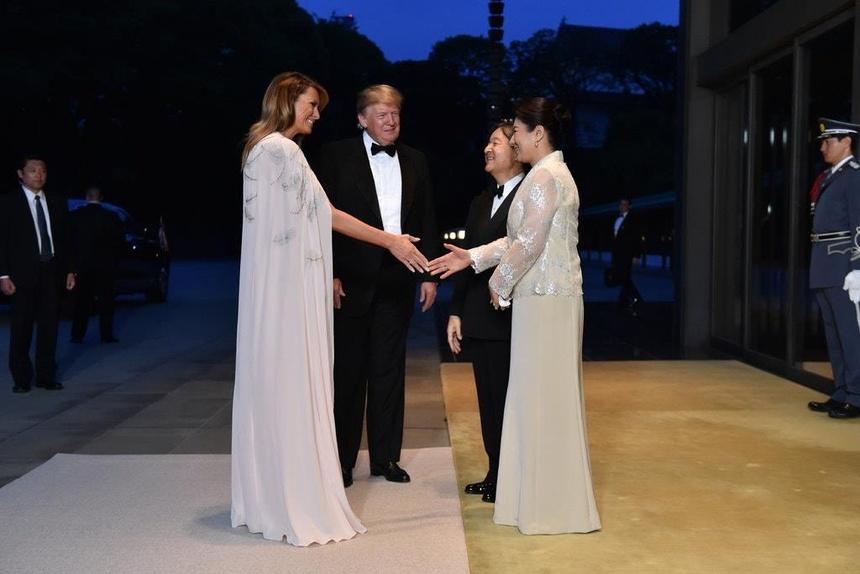 Hoang hau Masako tro thanh ngoi sao trong buoi don tiep TT Trump hinh anh 2