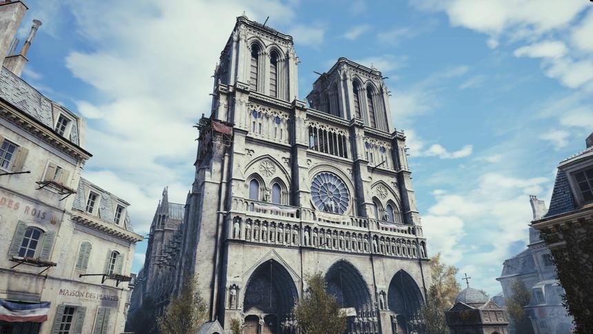Co mot Nha tho Duc Ba nguyen ven trong game Assassin's Creed Unity hinh anh 3