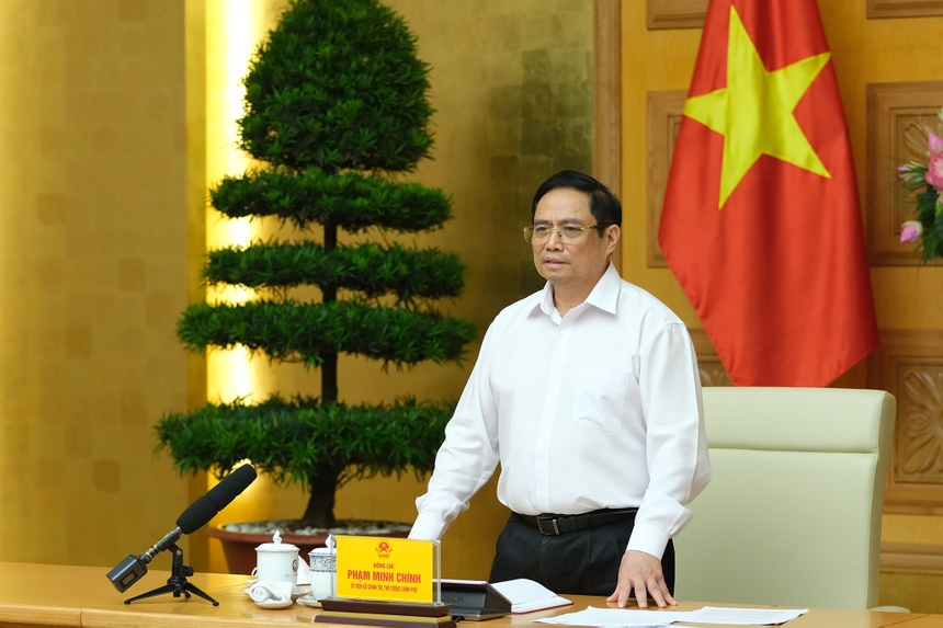 Thu tuong lam viec voi cac don vi san xuat vaccine anh 1