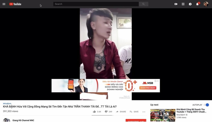 Sau vu Kha Banh, doanh nghiep Viet dung toan bo quang cao tren YouTube hinh anh 1