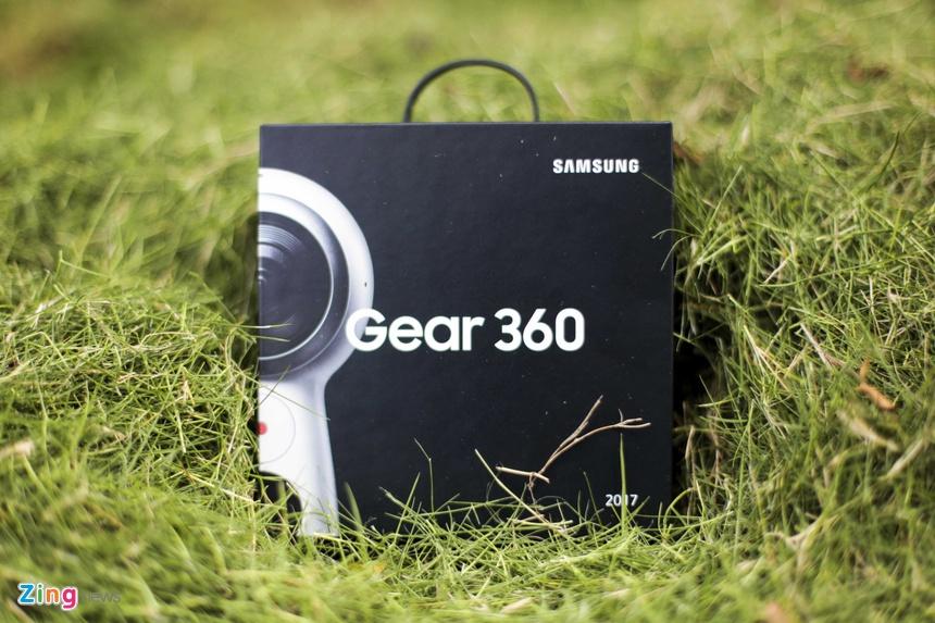 Anh thuc te Samsung Gear 360: Thiet ke moi, ho tro live video hinh